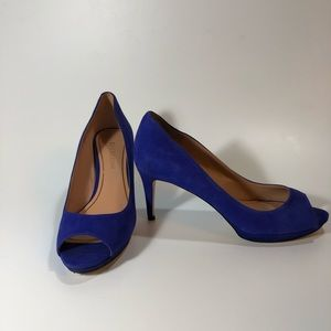 Enzo Angiolini Eagleabelle Blue Suede Heels 8.5m